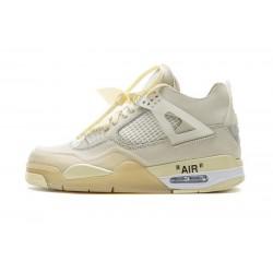 Men OFF White x Air Jordan 4 Sail