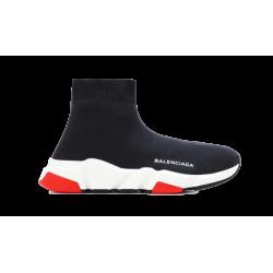 Balenciaga Speed Runner Mid Black Red Black