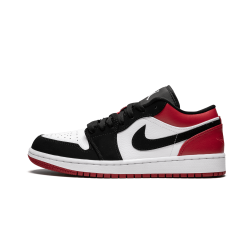 Air Jordan 1 Low Black Toe White Black Gym Red
