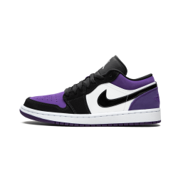 Air Jordan 1 Low Court Purple White Black Court Purple
