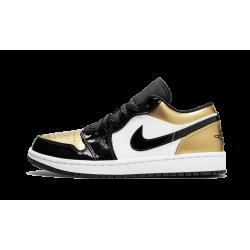 Air Jordan 1 Low Gold Toe Black Gold Black