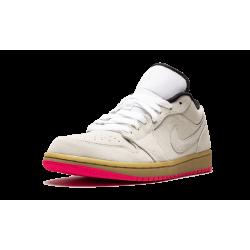 Air Jordan 1 Low Hyper Pink White GUM Yellow