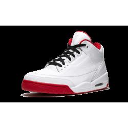 Air Jordan 3 White Varsity Red Black