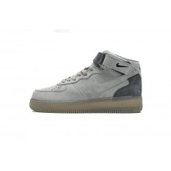 Reigning Champ  x Nike Air Force 1 Mid Suede Light Grey