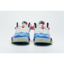 Jordan 6 Rings BG Basketball Shoes Blue Fury Cyber Pink