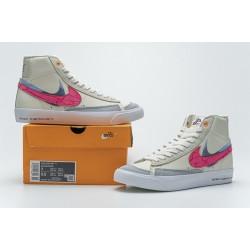 Nike Blazer Mid 77 Beige Pink Blue