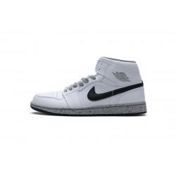 Air Jordan 1 Mid GS White Cement