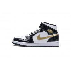 Air Jordan 1 Mid Gold Patent Leather
